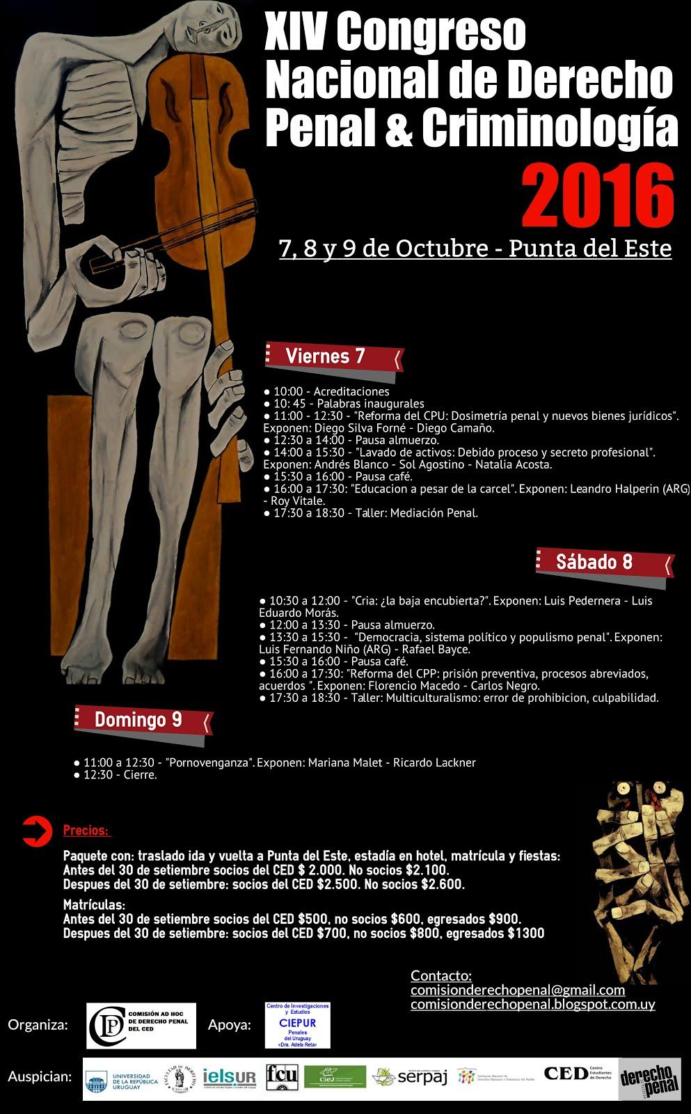 XIV Congreso Nacional Derecho Penal & Criminología 2016