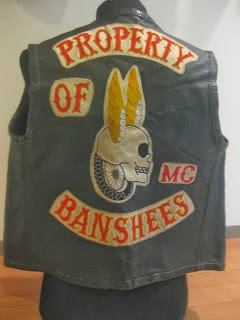 OLD MOTORCYCLE CLUB LEATHER VEST