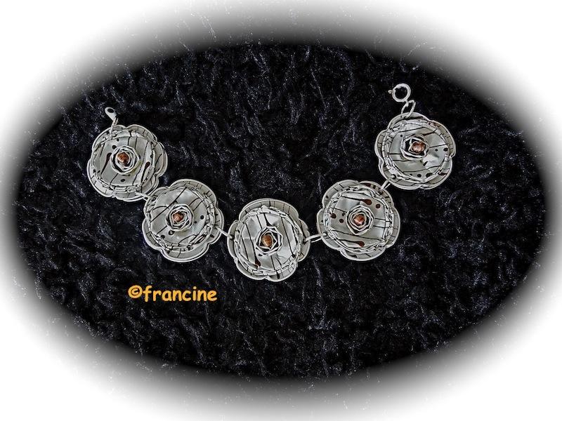 francine bricole bracelets capsules nespresso 5 fleurs. Black Bedroom Furniture Sets. Home Design Ideas