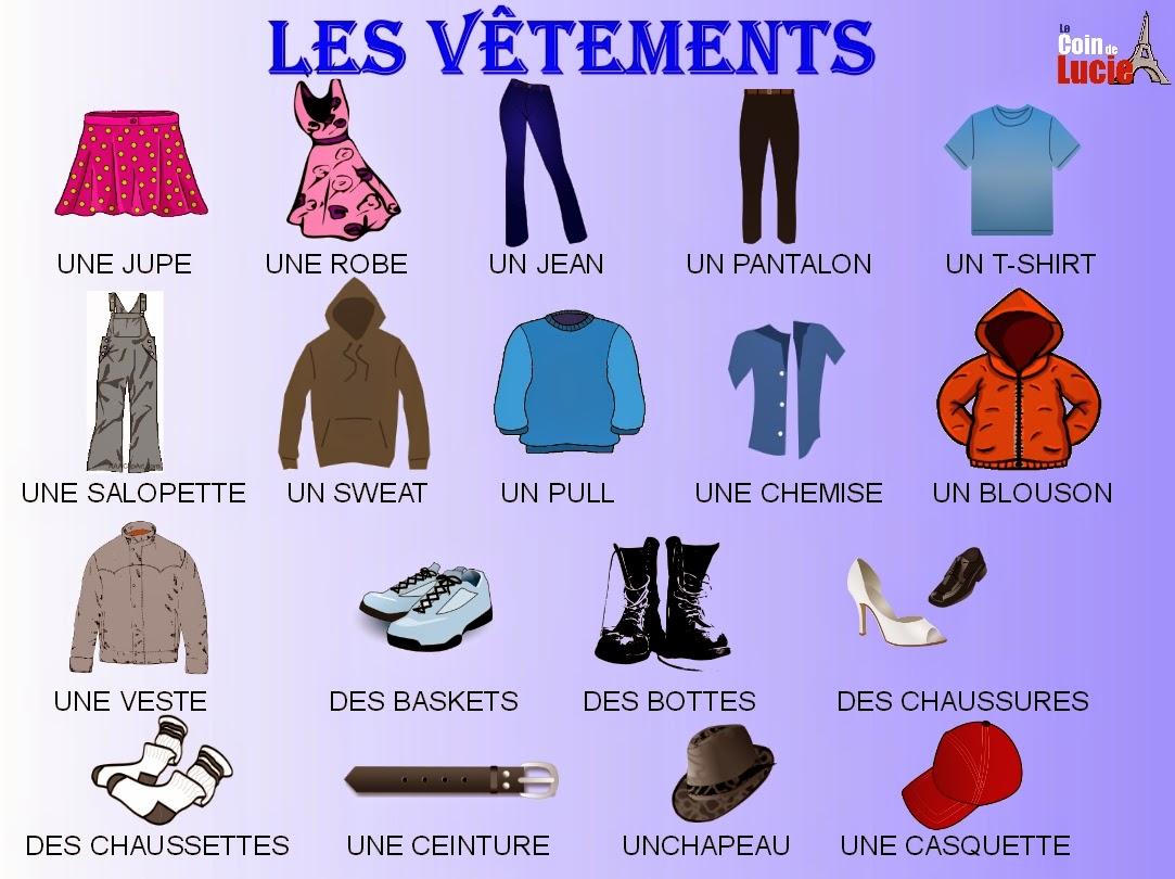 Parlo francese mon opinion propos de mes v tements et - Les vetements d hiver ...