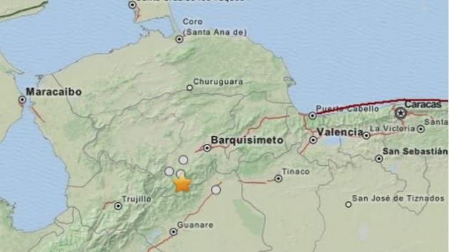 SISMO DE 5,5 GRADOS SACUDE VENEZUELA, 19 DE FEBRERO 2014