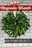 Dollar Store Magnolia Wreath Tutorial