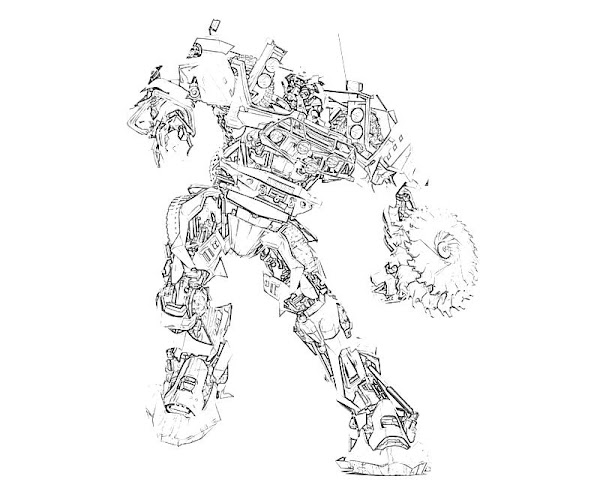 Ratchet Transformers Coloring Pages