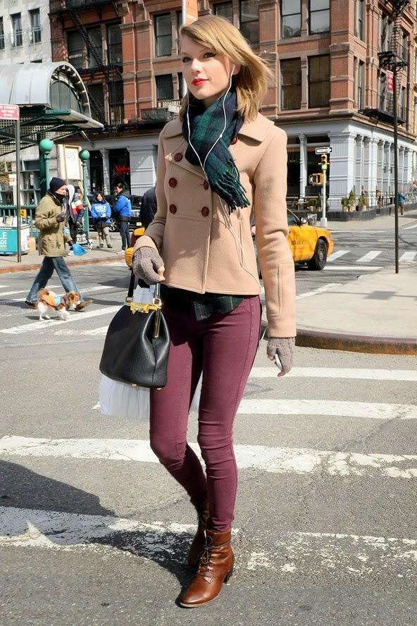 Classy Yet Trendy Get The Look Peacoat And Plaid