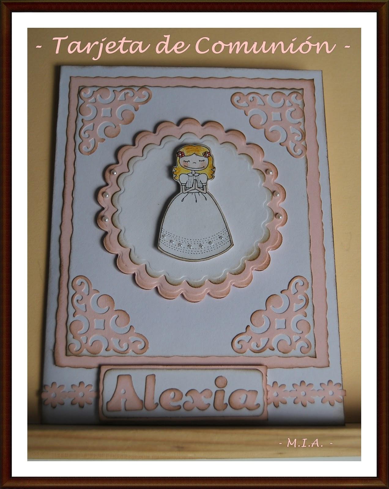 Tela papel tijeras tarjetas de primera comuni n - Como hacer tarjetas para comunion ...