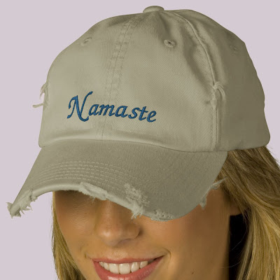 Namaste Embroidered Distressed Cap