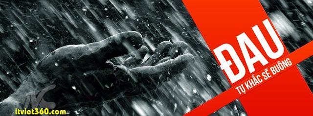 Ảnh bìa cho Facebook mưa | Cover FB timeline rain, đau tự khắc sẽ buông