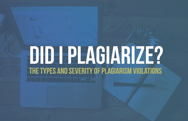 Did I Plagiarize? The Types and Severity of Plagiarism Violations - #infographic