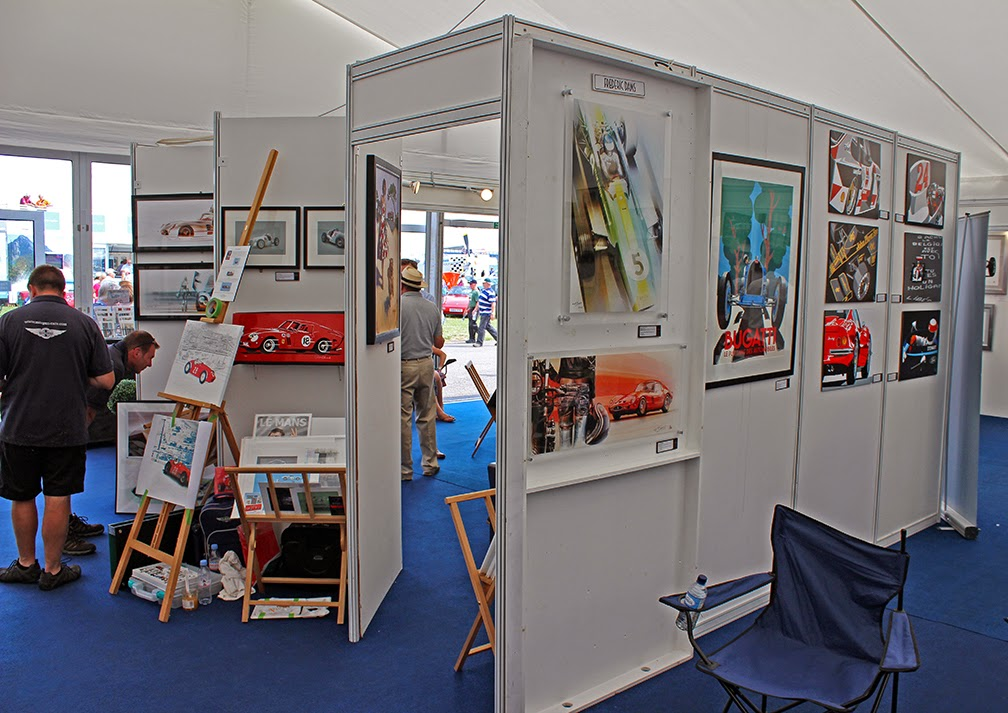 Automobiliart.com: Painting at the Silverstone Classic 2014