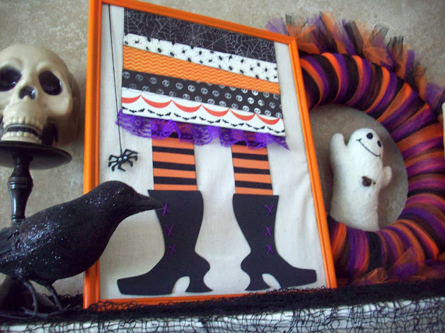 halloween decor 1 My Halloween Mantle and Halloween Banner from American Crafts