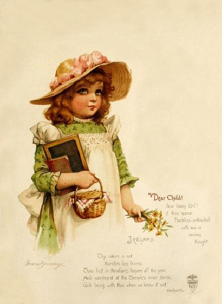 Красивые старинные открытки с детьми 81
