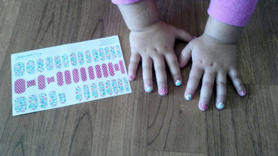 Jamberry Juniors - easy #nailart for little girls - sized for ages 8 and under
