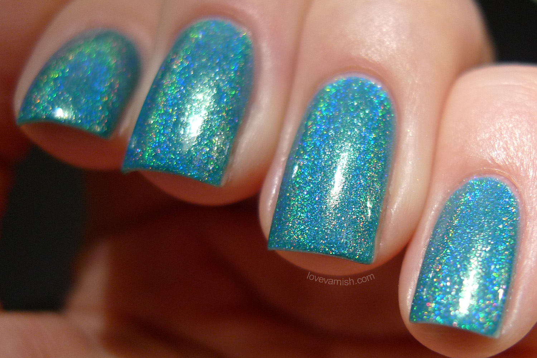 Cirque Heritage Cerrillos turquoise holographic polish