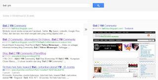 Tampilan di Mesin Pencari Mbah Google