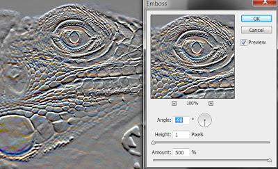 photoshop cs6 : emboss filter tool
