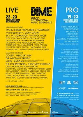 BIME, 2013, Bilbao, Conciertos, Live,