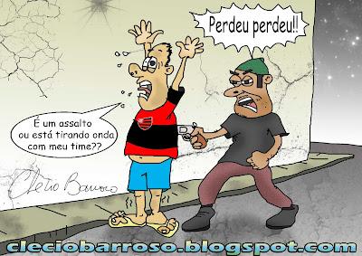 Flamengo perdeu (charge)