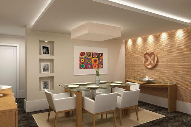 decoração da sala de jantar