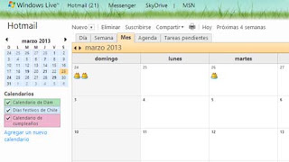 outlook correo calendario
