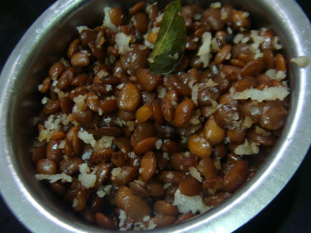 Horse Gram Palya dry side dish for rice+indian recipes