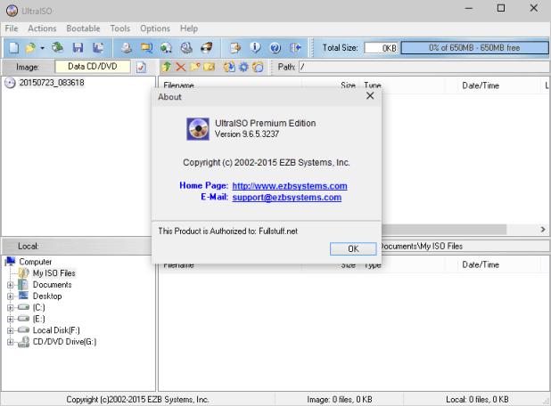 fourRoms: UltraISO Premium 9.6.5 Serial Key