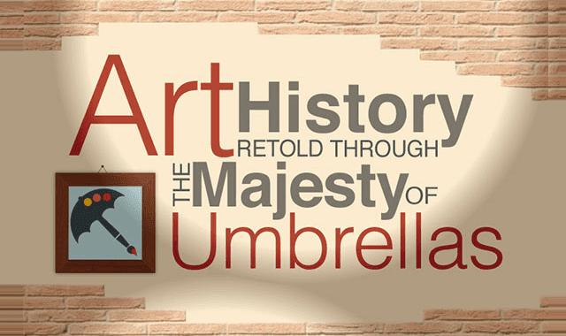 Image: Art History Retold Through the Majesty of Umbrellas