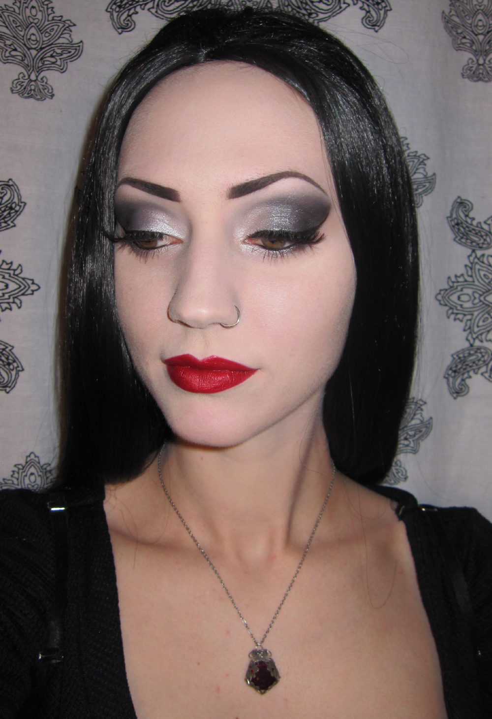 Glitter Is My Crack... Morticia U0026 Gomez Addams Halloween Costume/Makeup + Party Pictures