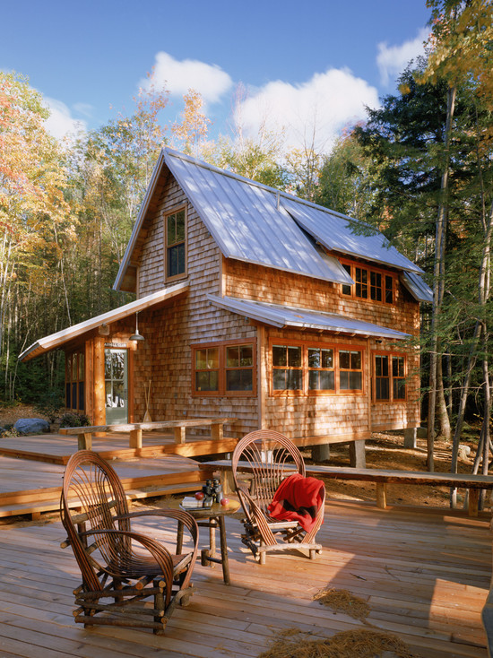 rustic log cabin for private residence