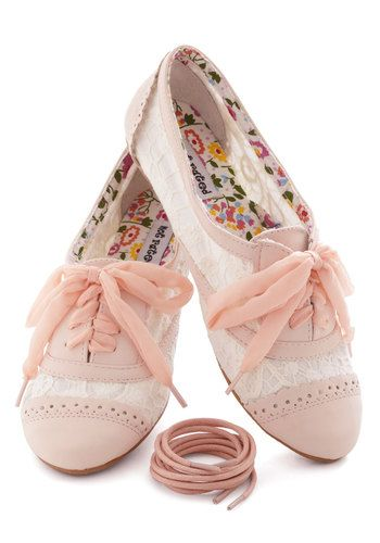 Pretty Pink Spring Flat Shoes