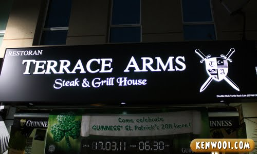 terrace arms steak grill house