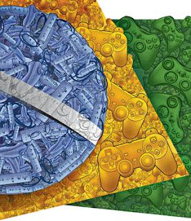 Brasil Games Brazil Flag Frag bandeira Video-Game Jogo nacional Market Merado
