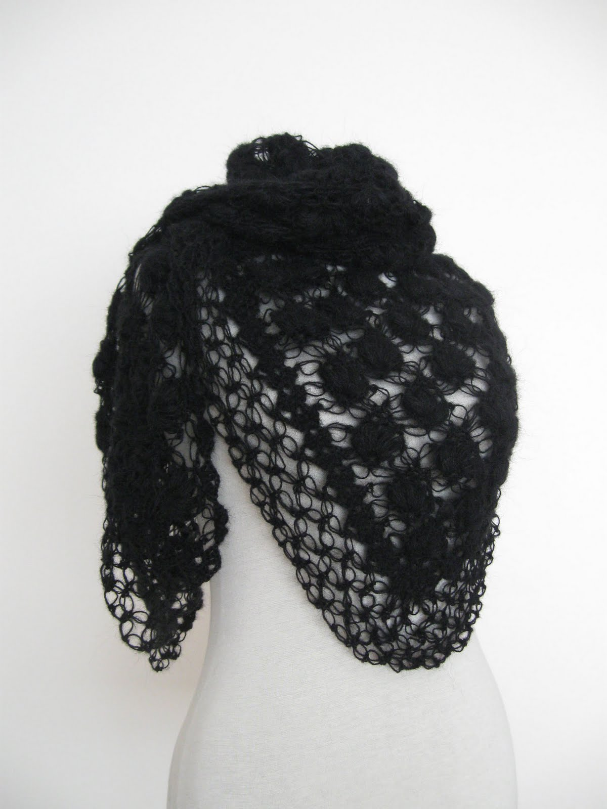 Knitting and beading wedding bridal accessories and free pattern this black hand crocheted unique design shawl has been made from quality soft mohair yarn the finished shape is triangular the best thing is that the bankloansurffo Images