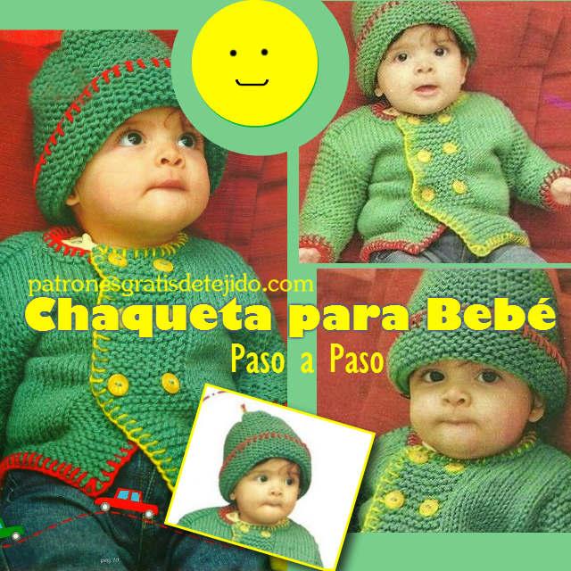 Tutorial paso a paso de chaqueta para bebe tricot
