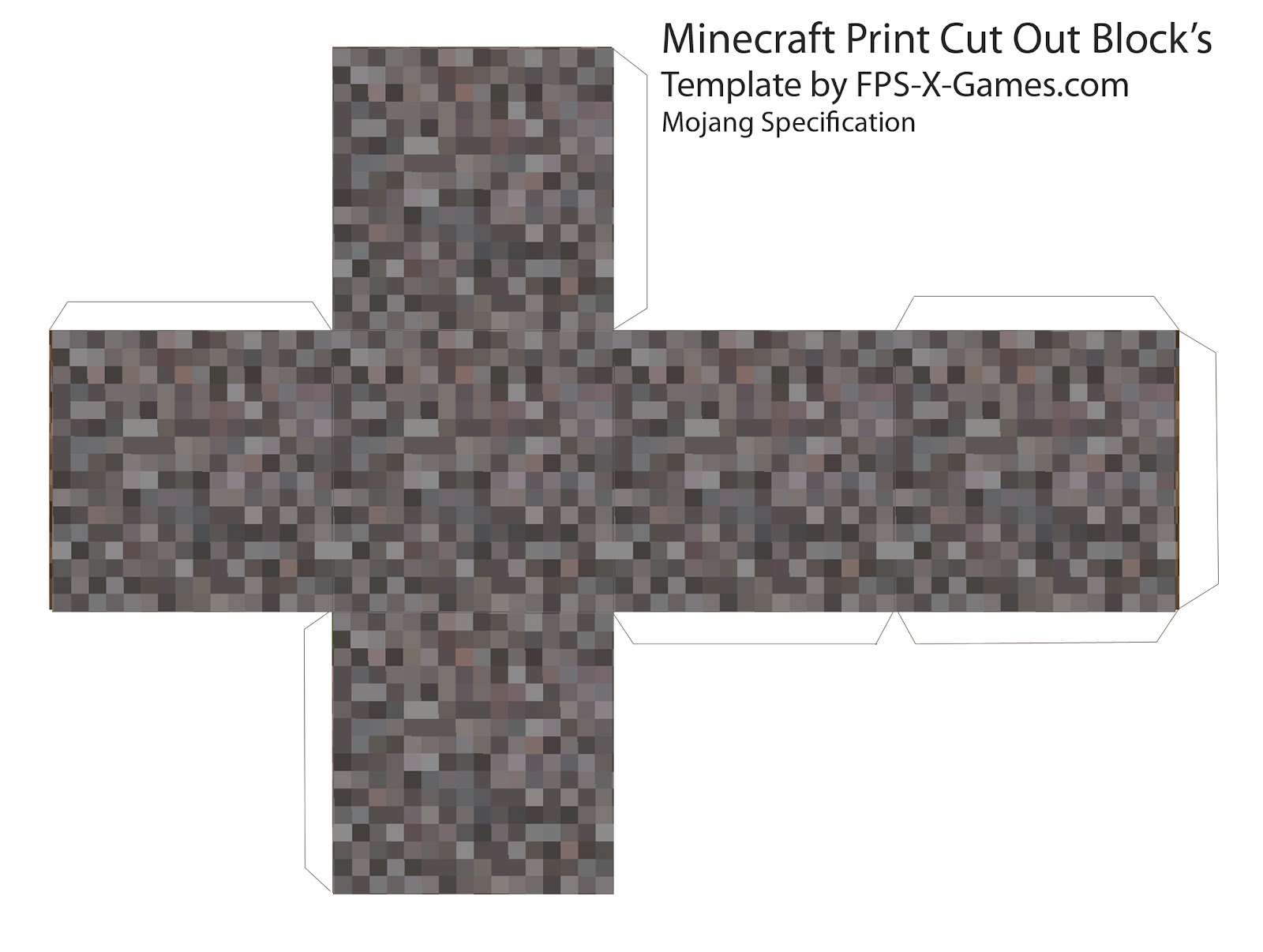 Cube print out search results calendar 2015 for Minecraft cut out templates