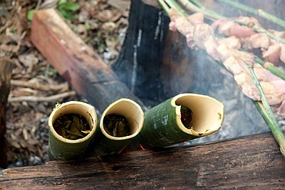 Độc đáo ẩm thực nấu ống lồ ô Kon Tum 1