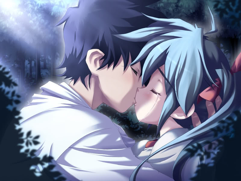 Anime Couple Kiss Sexy Pictures Desktop Background