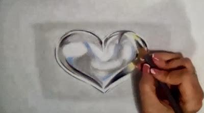تعلم الرسم : قلب معدني بالخطوات