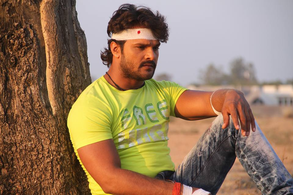 Khesari Lal Yadav ON Set of Dabang Aashiq Bhojpuri Film Shooting photo