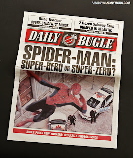 Spider man daily bugle newspaper headline