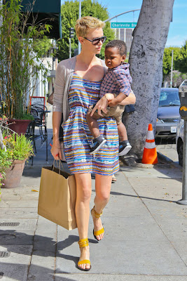 Hollywood Movie Actress Celebrity Charlize Theron Baby boy Jackson