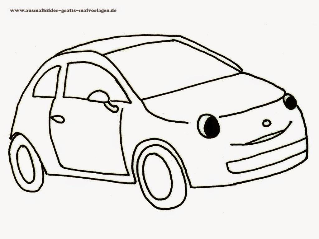 Autos, Fahrzeuge Kinder-Malvorlagen