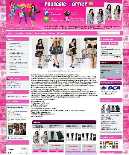 Contoh template/tilan untuk website toko online (id toko online)
