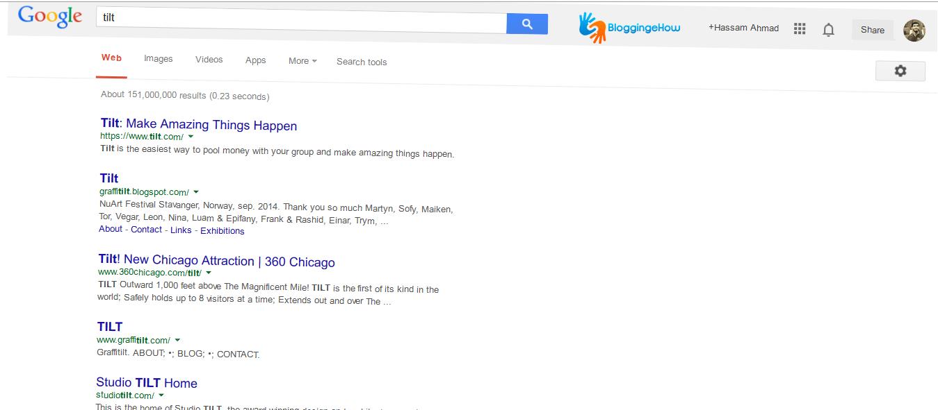 google tilt