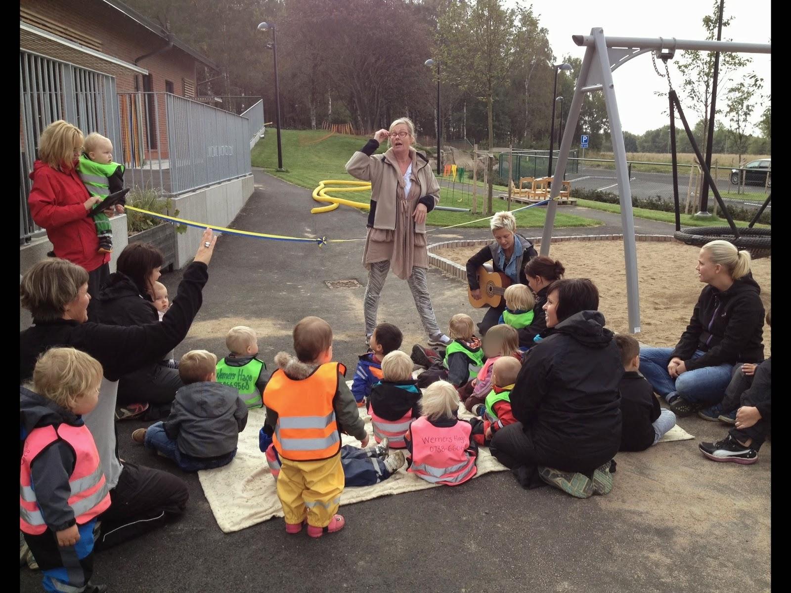Invigning av Werners Hage med barn och personal!