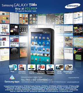 Samsung Galaxy Tab Price down poster