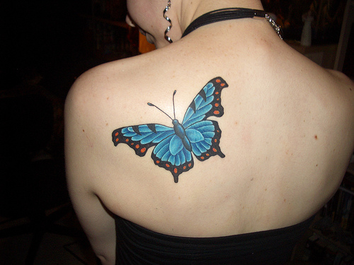 Women Butterfly Tattoos 2010 Picture