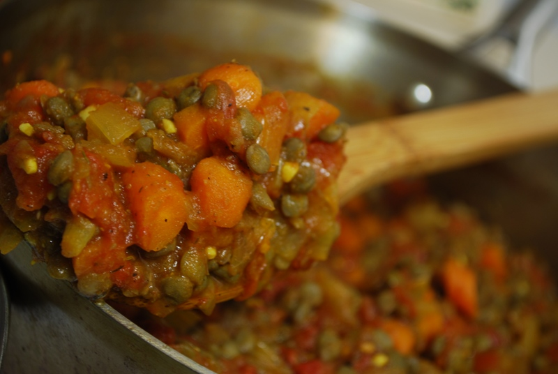 Hearty Helpings: Stewed Lentils and Tomatoes