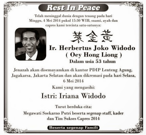 iklan kematian RIP Jokowi