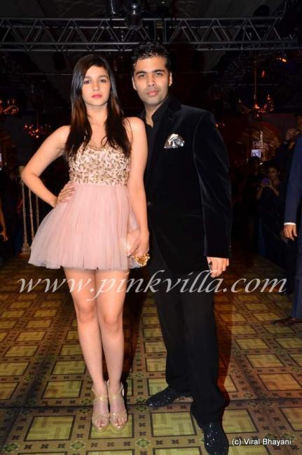Alia Bhatt & Karan Johar at PCJ Delhi Couture Week