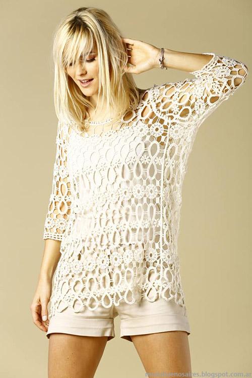 Sweaters y shorts de moda verano 2015. Moda primavera verano 2015.